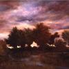 "Oil on canvas, 36"" X 50"""