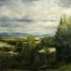 "Oil on canvas, 40"" X 66"""